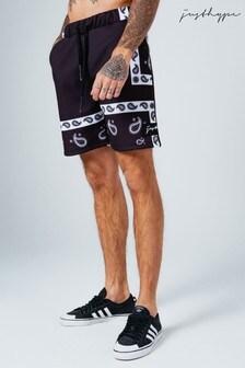 Hype. Black Paisley Shorts