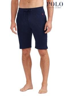 Polo Ralph Lauren Navy Slim Logo Sleep Shorts