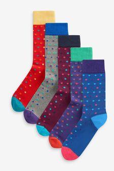 Bodkované ponožky, 5 párov