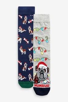 Vianočné ponožky, 2 páry