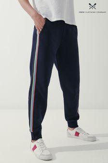 Crew Clothing Company海軍藍側條紋慢跑運動褲
