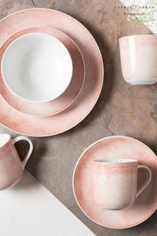 Portmeirion Pink Studio Crackle 16 Piece Dinner Set