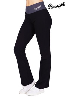 Pineapple Navy Contrast Band Boot Cut Jersey Trousers