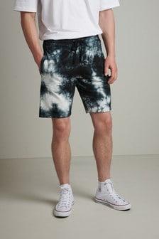 Slim Fit Tie Dye Jersey Shorts