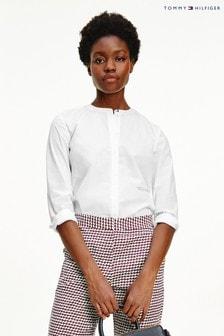 חולצת כותנה בגזרה רפויה של Tommy Hilfiger בצבע לבן