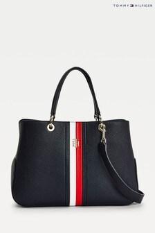 Синяя компактная сумка с длинным ремешком Tommy Hilfiger Th Essence