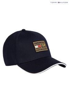 Синяя кепка с нашивкой Tommy Hilfiger Th (фирменный стиль)