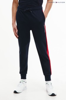Tommy Hilfiger Blue Blocked Terry Pants