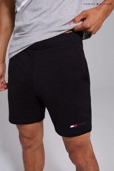 Tommy Hilfiger Black Terry Logo Shorts
