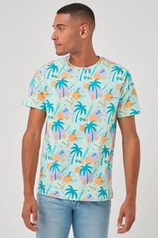Floral Print Regular Fit T-Shirt