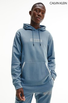 Calvin Klein藍色套頭連帽上衣