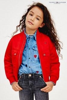 Блестящая куртка-бомбер Tommy Hilfiger Varsity
