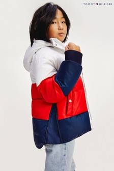 Дутая куртка в стиле колор блок Tommy Hilfiger Essential