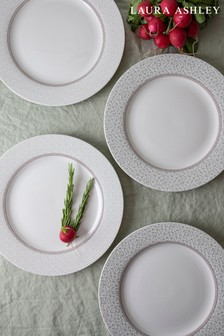 Set of 4 Laura Ashley Green Wild Clematis Collectables 26cm Plates