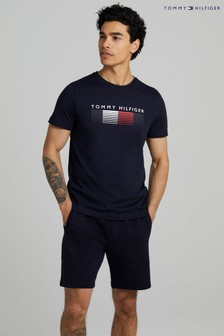 Tommy Hilfiger Blue Faded Graphic T-Shirt