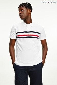 Tommy Hilfiger White Signature Regular Polo Shirt