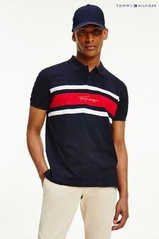 Tommy Hilfiger Blue Signature Regular Polo Shirt