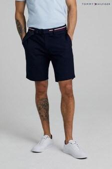 Tommy Hilfiger藍色布魯克林斜紋短褲