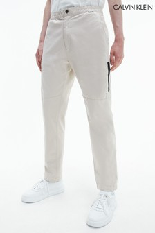 Calvin Klein Brown Tapered Zip Pants