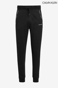 Calvin Klein White Logo Stripe Sweatpants