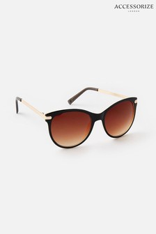 نظارة شمسية بني مسطحة من أعلى Rubee من Accessorize