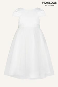 فستان لإشبينة العروس تول لون طبيعي من Monsoon