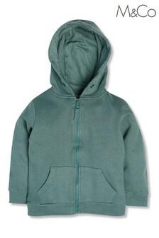 M&Co Green Green Zip Hoodie