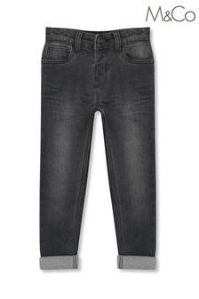 M&Co灰色窄管牛仔褲
