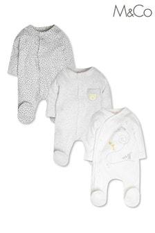 מארז של חליפות שינה באפור עם דוגמת חיות שלM&Co