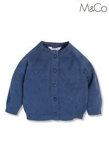 M&Co Blue Newborn Knit Cardigan