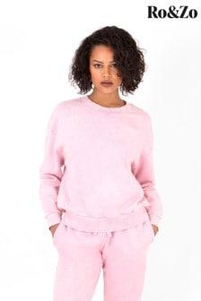 Ro&Zo Pink Acid Wash Sweater