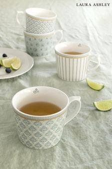 Set of 4 Laura Ashley Tea Collectables Mugs