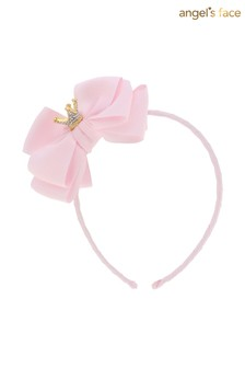 Angel's Face Aliceband With Crown Fairy Pink
