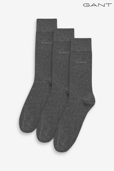 GANT Grey Soft Cotton Socks 3 Pack
