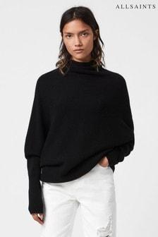 AllSaints Ridley Hochgeschlossener Pullover, Schwarz