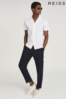 Reiss Caspa Mercerised Cotton Jersey Shirt