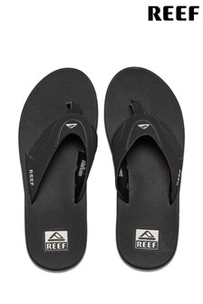 Reef Black Fanning Flip Flops