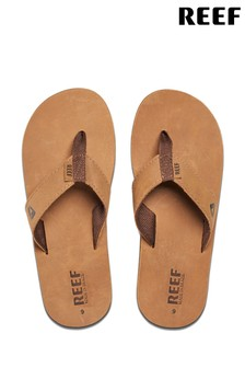 Reef Brown Leather Smoothy Sandals