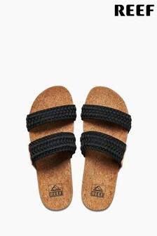 Reef Black Cushion Vista Thread Sandals