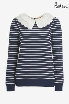Boden Hattie Collar Sweatshirt