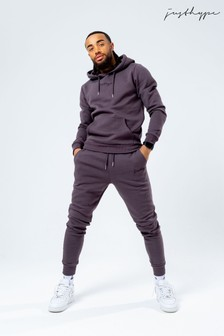 Hype. Mens Chocolate Scribble Logo Hoodie And Jogger Set