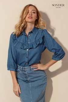 חולצתג'ינס עם מלמלה דגםStudio שלSonder