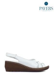 Pavers Ladies Leather Slingback Sandals