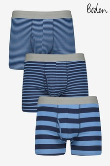 Boden Blue 3 Pack Jersey Boxers