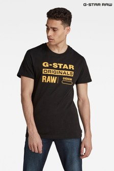 G-Star Black Graphic 8 R T Compact Jersey T-Shirt