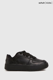 Schuh Black Mighty Lace Up Trainers