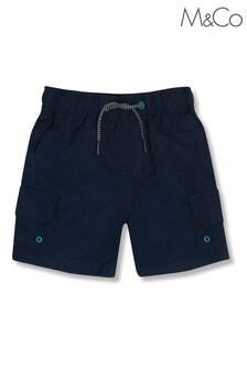 M&Co Cargo-Badeshorts, Blau