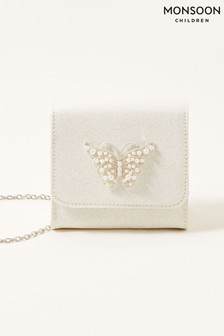 Monsoon Natural Pearly Butterfly Shimmer Bag
