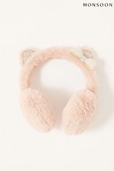 Monsoon Pink Pearly Cat Earmuffs