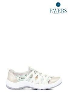 حذاء رياضي فضي زهور نسائيBungee منPavers